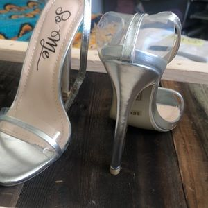 so me Shoes - So Me sliver/clear high heels
